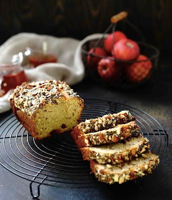 cake , automne , pommes , amandes , skyr