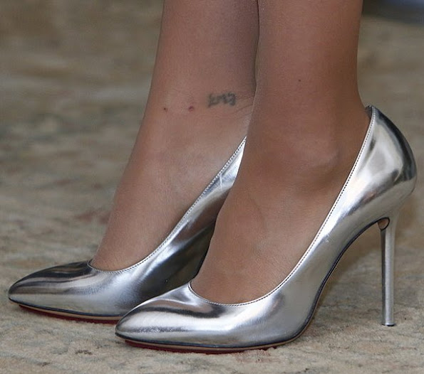Princess Sofia wore Charlotte Olympia Monroe Metallic Leather Pumps