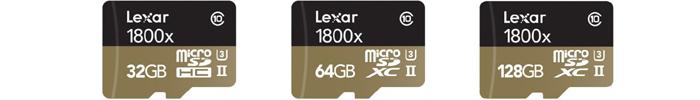 レキサー Lexar microSDXCカード「Professional 1800x」