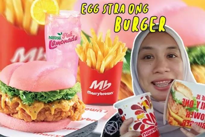 Marrybrown Egg-Stra Ong Burger | Burger Warna Pink?