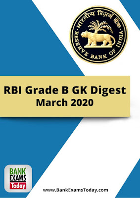 RBI Grade B GK Digest: March 2020