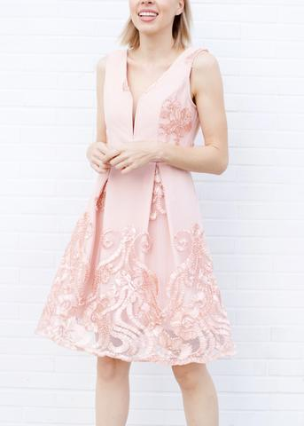 Lombard and Fifth blush dress