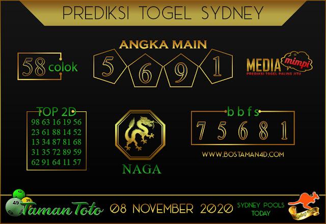 Prediksi Togel SYDNEY TAMAN TOTO 08 NOVEMBER 2020