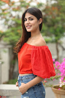 Rhea Chakraborty in Red Crop Top and Denim Shorts Spicy Pics ~  Exclusive 208.JPG
