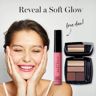 avon catalog free natural glo eye and lip duo