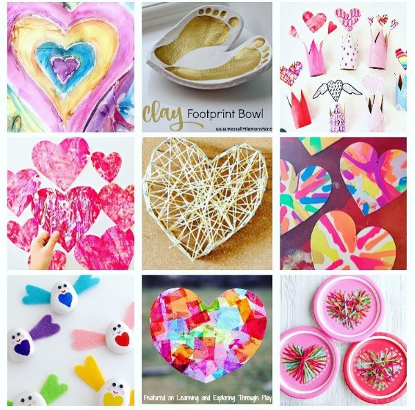 Heart Crafts for Kids. Valentines Crafts.