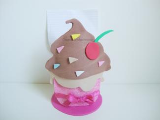 Cupcake porta notas acabado