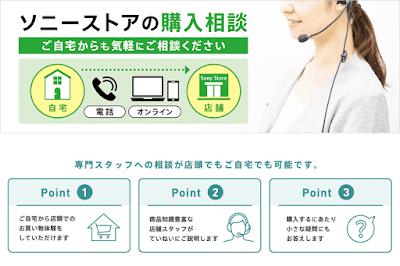 ソニーストアの購入相談サービスのイメージ
