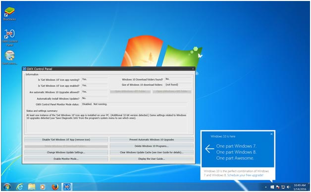 Use GWX Control Panel to Stop Windows 10 Upgrade: eAskme