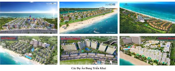 hình ảnh cảnh quan các dự án mới trong cuối năm 2020 tại khu vực biển Hồ Tràm