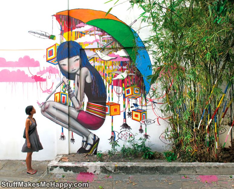 Not Just Graffiti, But A New Artistic World: Wonderful Masterpieces of House Street Art by Julien Malland
