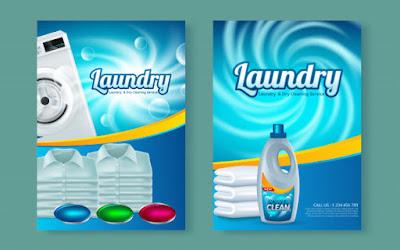 Contoh brosur laundry