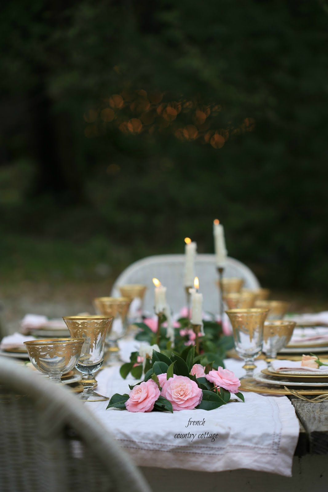 Simple Elegant table setting for spring - FRENCH COUNTRY COTTAGE