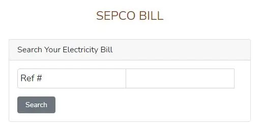 SEPCO online bill 2021 - How to Check Duplicate SEPCO Bill Online