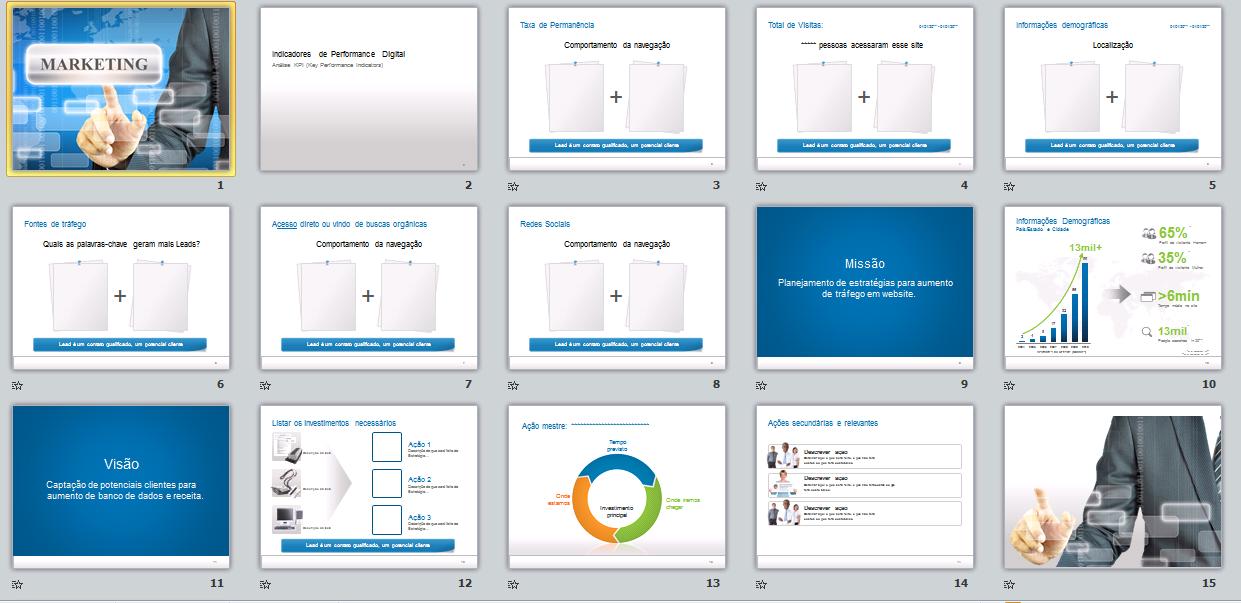 Template Premium em PPT para Profissionais de Marketing B2B/B2C
