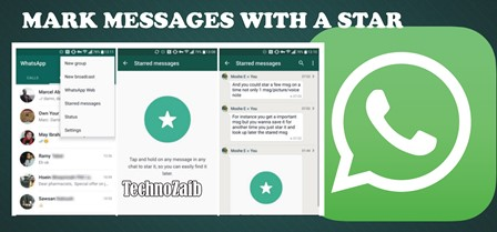 To find messages quickly, for example with important information, you can mark chats with a star.