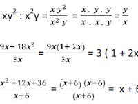 Materi Matematika SMP : Menyederhanakan Pecahan Aljabar
