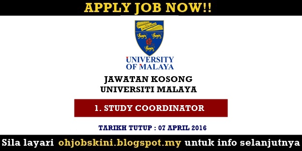 Iklan Jawatan Kosong Universiti Malaya (UM)