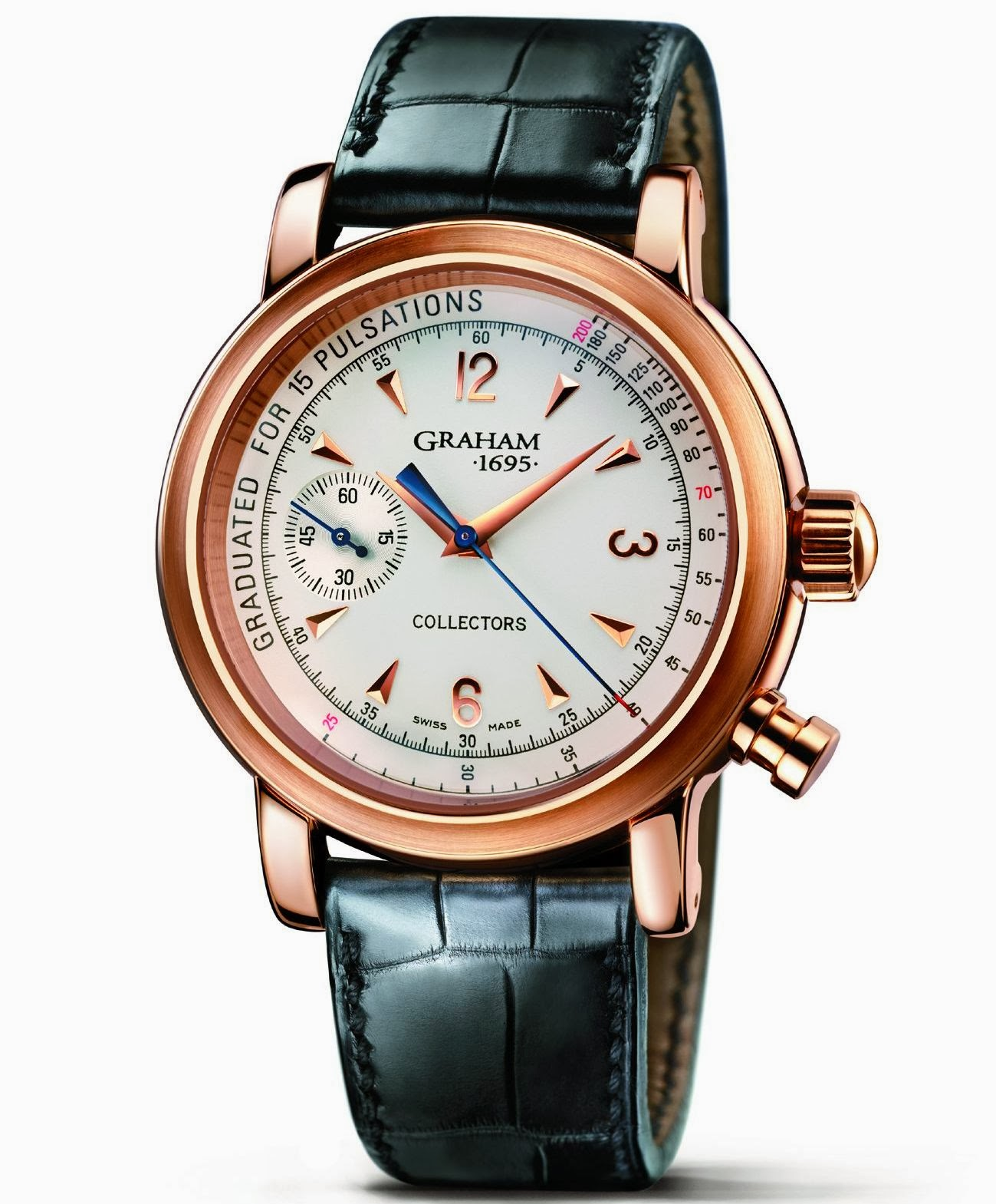 Graham Collectors 132 manual winding chronograph red gold