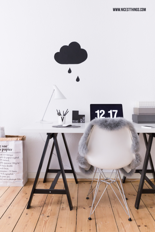 Working Space / Cloud Wallsticker, Fliqlo Screensaver, Sac En Papier