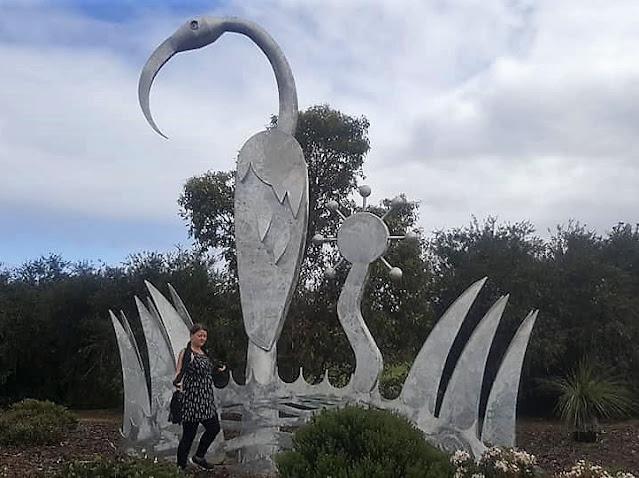 South Lake Ibis Entry Statement Sculpture