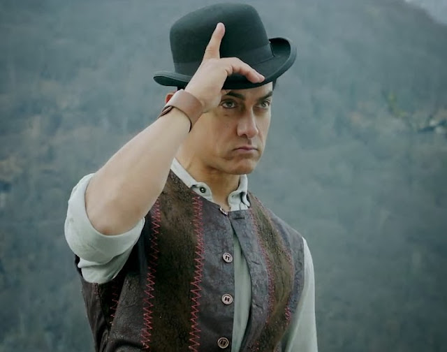 Aamir Khan Latest Pics In Dhoom 3 Movie