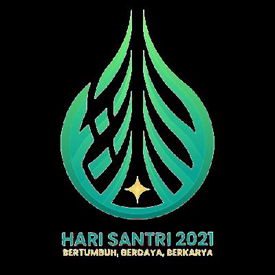 download logo Hari Santri Nasional 2021 PNG lengkap tema kemenangan PBNU NU Muhammadiyah format transparan HD CDR.