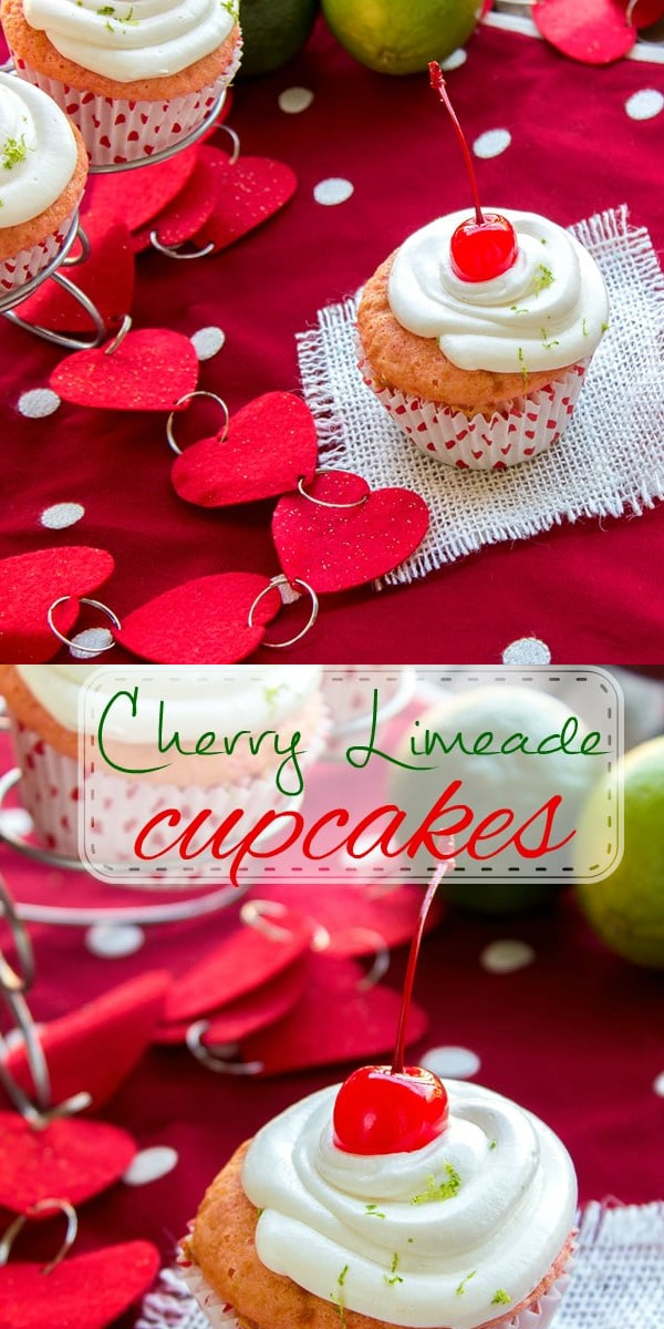 Cherry Limeade Cupcakes #Cupcakesrecipes
