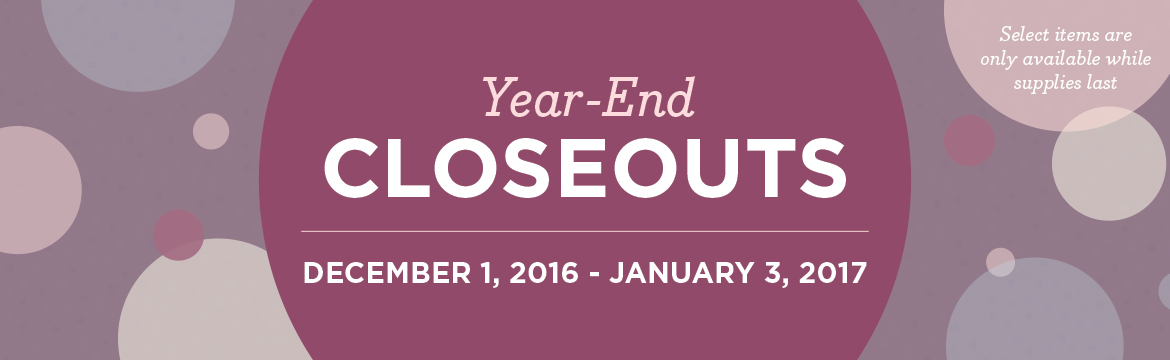 a0dbb8d7f218 It's time for the annual Year-End Closeout Sale – a celebration that runs  through January 3. Here's what you can expect: