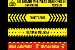 Template Garis Polisi Garis Bahaya Vektor AI
