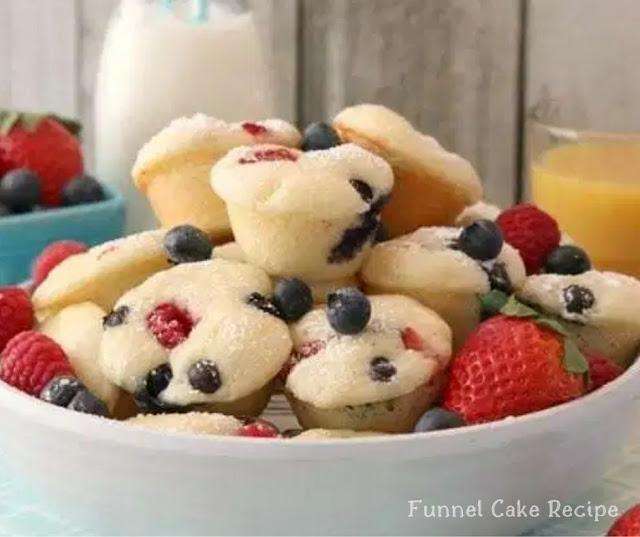 Berry Protein Pancakes Bites