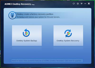 Aomei OneKey Recovery : Δωρεάν πρόγραμμα δημιουργίας αντιγράφων ασφαλείας και επαναφοράς συστήματος