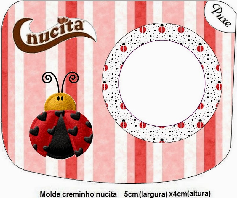 Free Printable Nucita Candy Bar Labels for a Ladybugs.