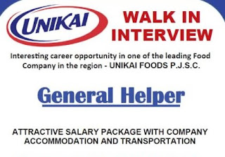 Helper Required Urgently in Leading Food Distribution Company Dubai