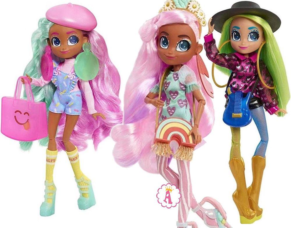 Шарнирные куклы Хэрдораблс Hairamazing Dee Dee, Willow, Harmony