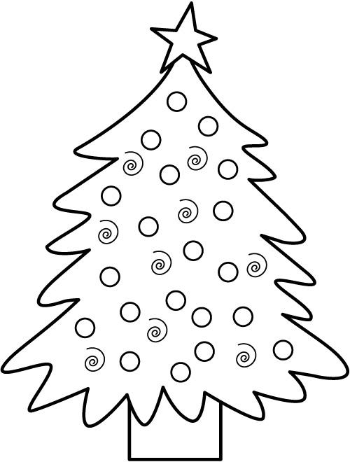 Dibujos para colorear árbol de Navidad