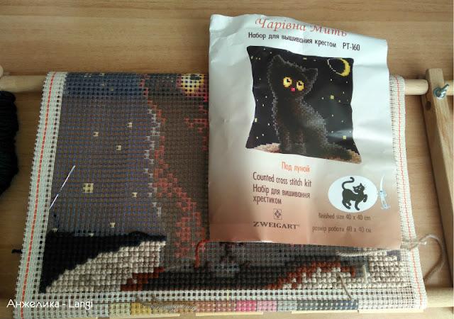 """Подушка """"Черный кот"""" от Чаривны Мить"""