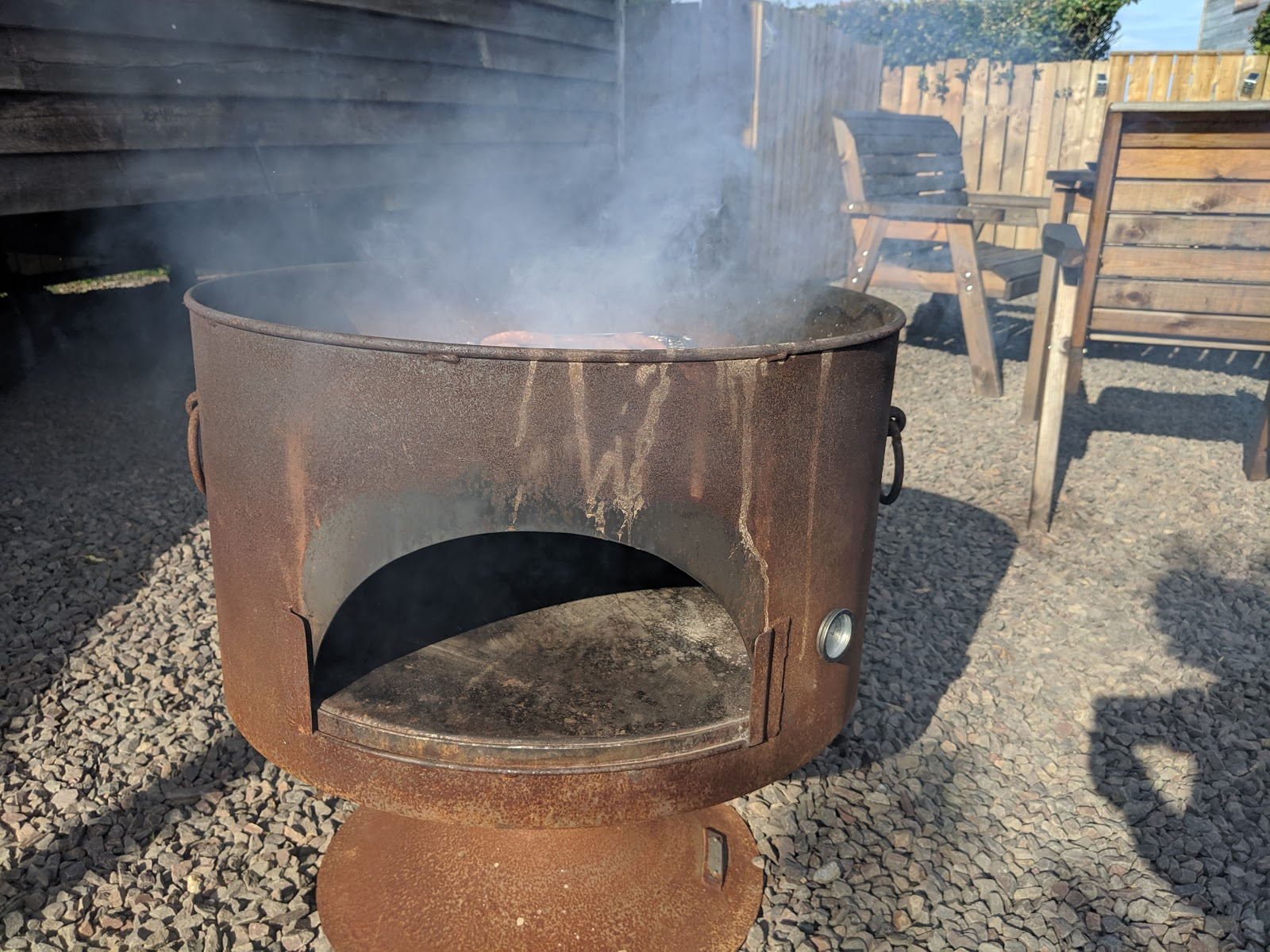 Shepherd's Retreats Beadnell Review - Dog-friendly Glamping in Northumberland - pizza oven and bbq