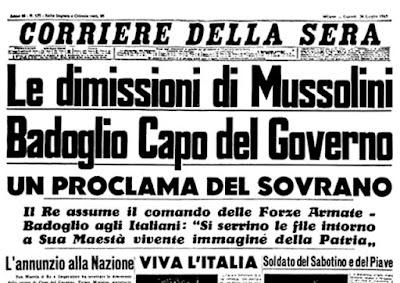 Caída del fascismo italiano