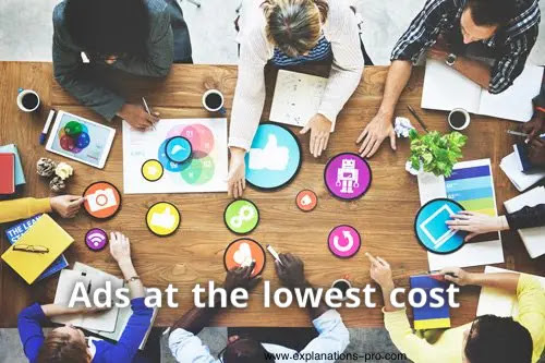 Ads at the lowest cost