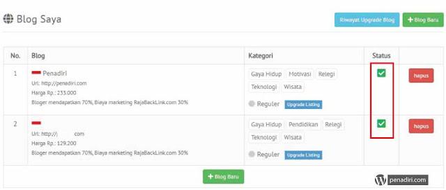Dapatkan Penghasilan Tambahan Dari Penyedia Job Blogger RajaBacklink