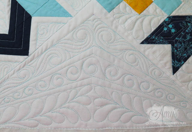 free motion quilting with rulers and poly thread