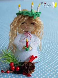 Santa-Lucía-fieltro-elbosquedelulu-Navidad-felt-feltro