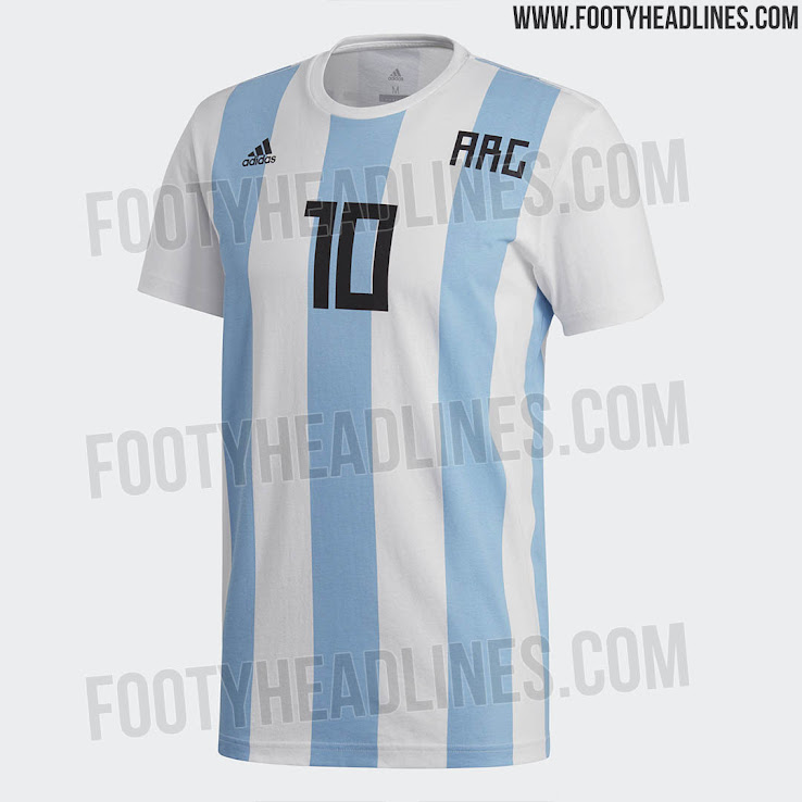 96015dbd Special Adidas Argentina Messi 2018 World Cup Shirt Leaked - Footy ...