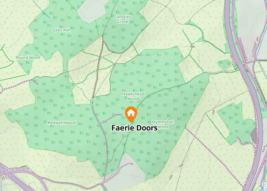 Map of faerie doors location in Mymmshall Wood by North Mymms News