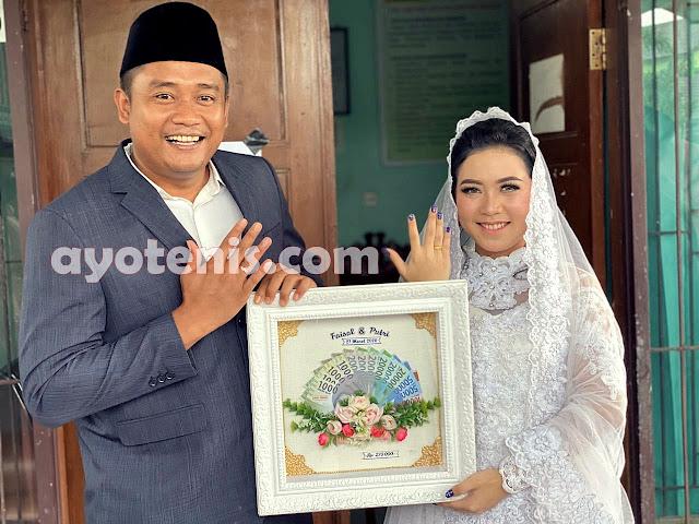 Petenis Faisal Aidil Akhiri Masa Lajang, Tunda Resepsi Pernikahan