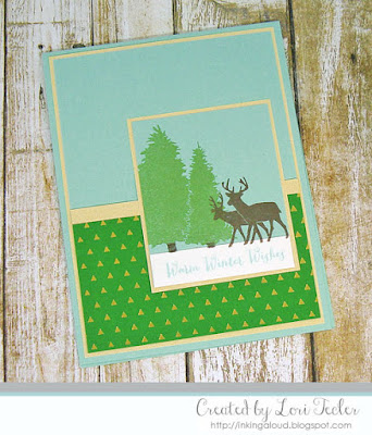 Warm Winter Wishes card-designed by Lori Tecler/Inking Aloud-stamps from Clear and Simple Stamps