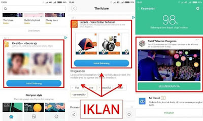 iklan Xiaomi MIUI 9