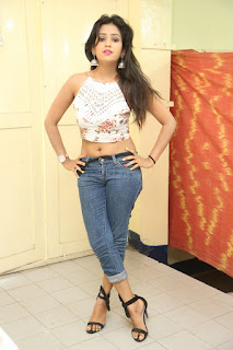 Deekshita Parvathi in a short crop top and Denim Jeans Spicy Pics Beautiful Actress Deekshita Parvathi January 2017 CelebxNext (241).JPG