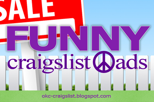 Okc Ok Craigslist >> FUNNY CRAIGSLIST ADS: Nearly Naked Selfie Accident | Craigslist Garage Sales - Oklahoma City